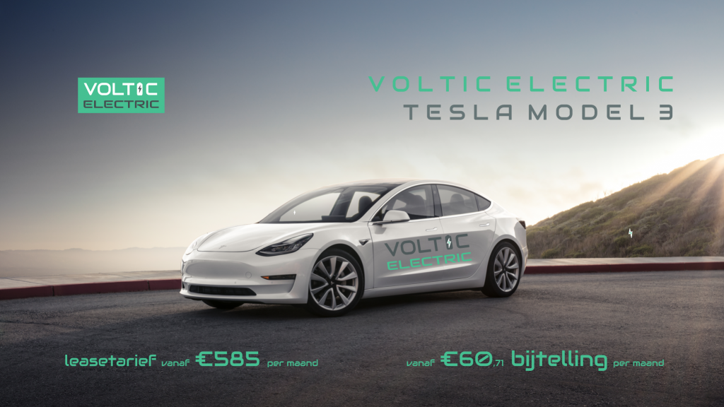 4% bijtelling Tesla Model 3 Standard Range Plus Voltic Electric Lease
